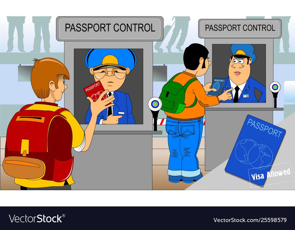 Passport and customs control