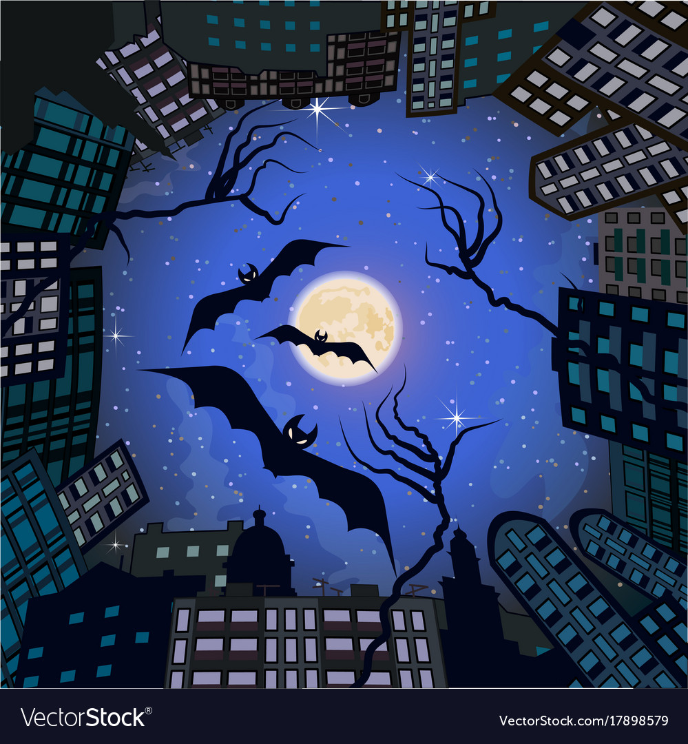 Phobia in city at night