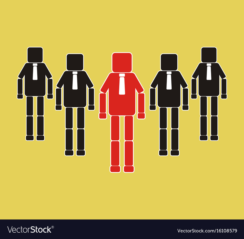 Successful team leader teamwork concept icon vector image