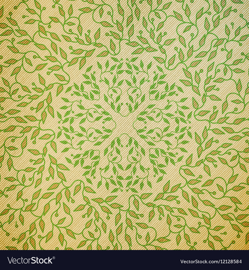 Abstract green color wooden design Circle made vector image