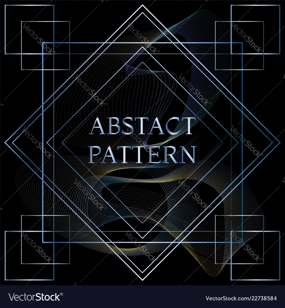 Abstract particles pattern