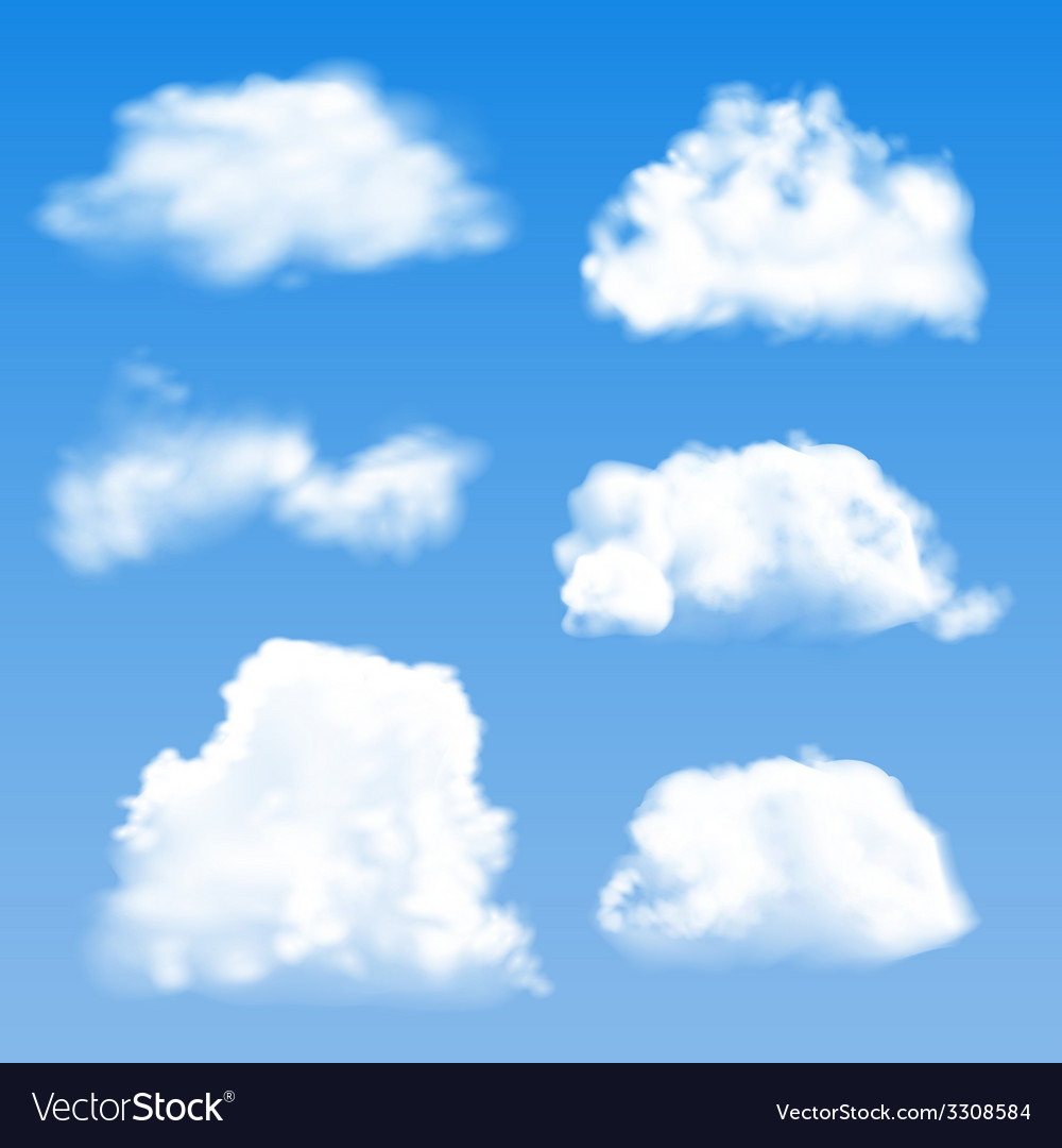 Blue cloud geometric background