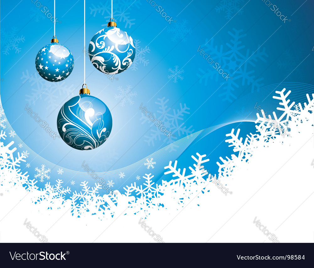Christmas illustration with glass balls vector image