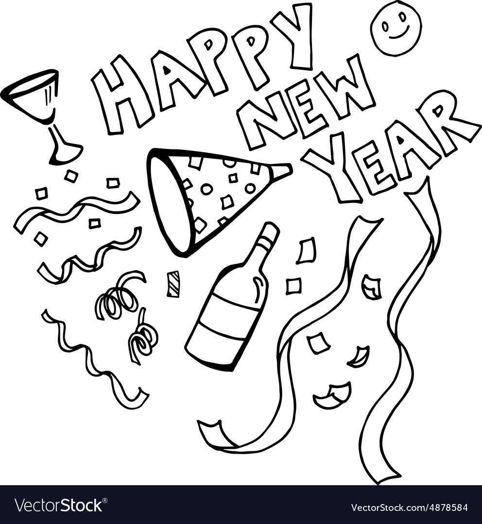 Happy New Year Doodle 2