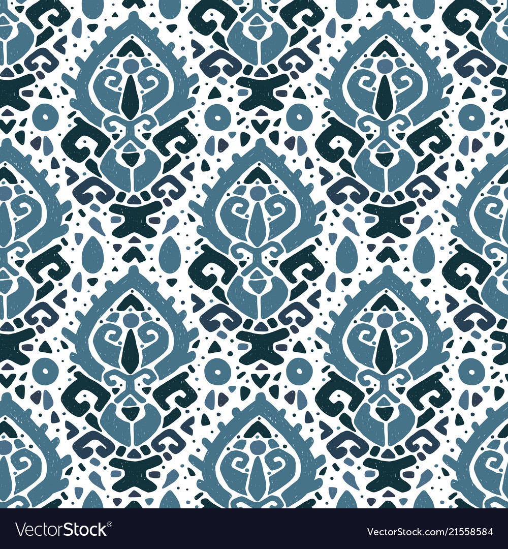 Ikat ornament waves tribal pattern
