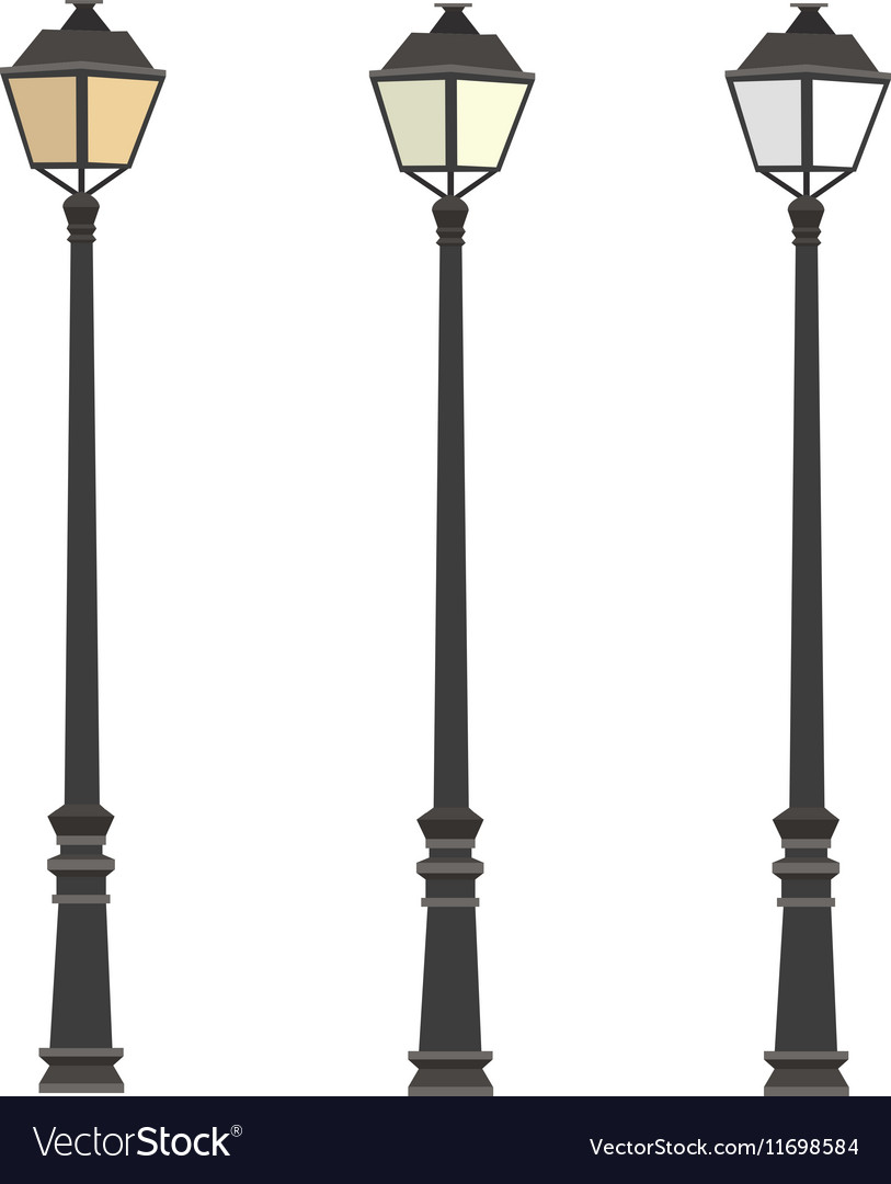 vectorstock royalty free lamppost vector image post lamp street
