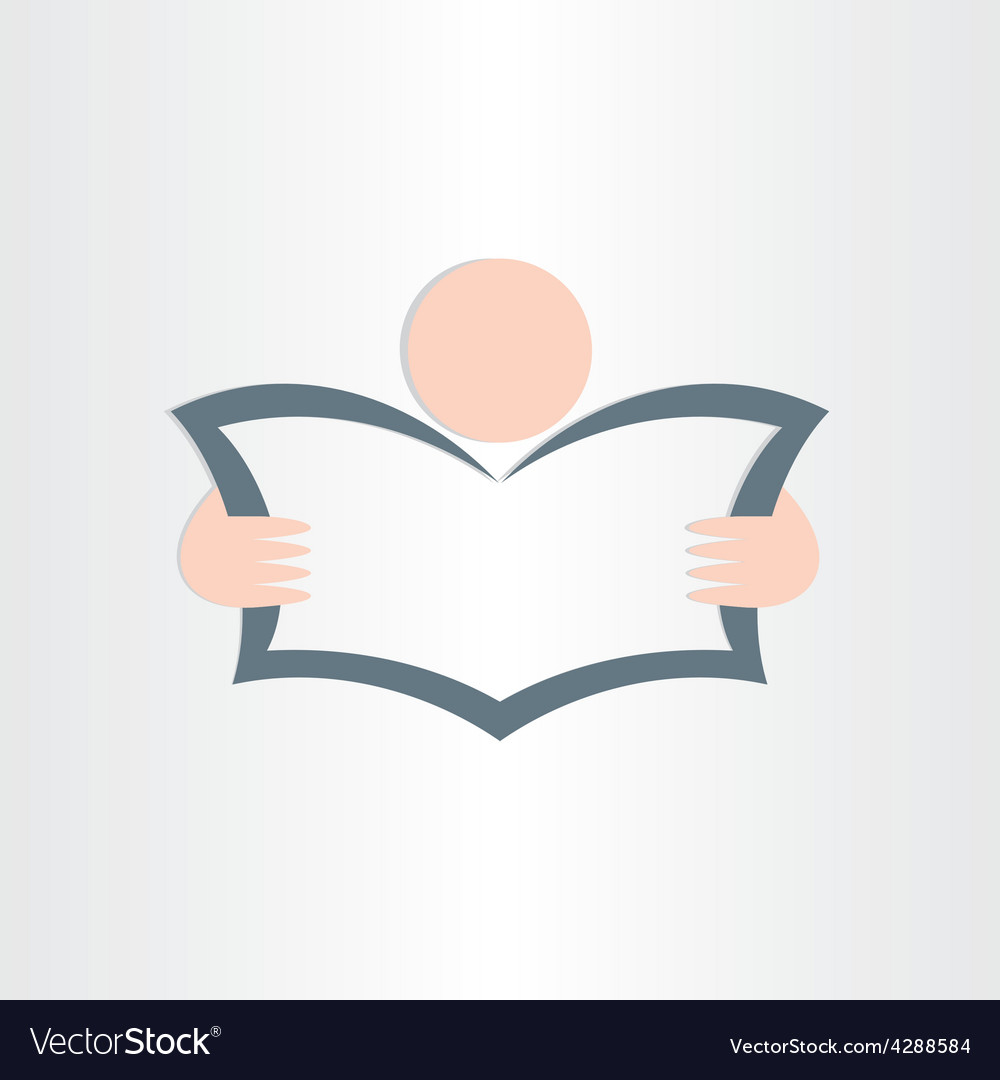 man reading newspaper book or map icon design vector image