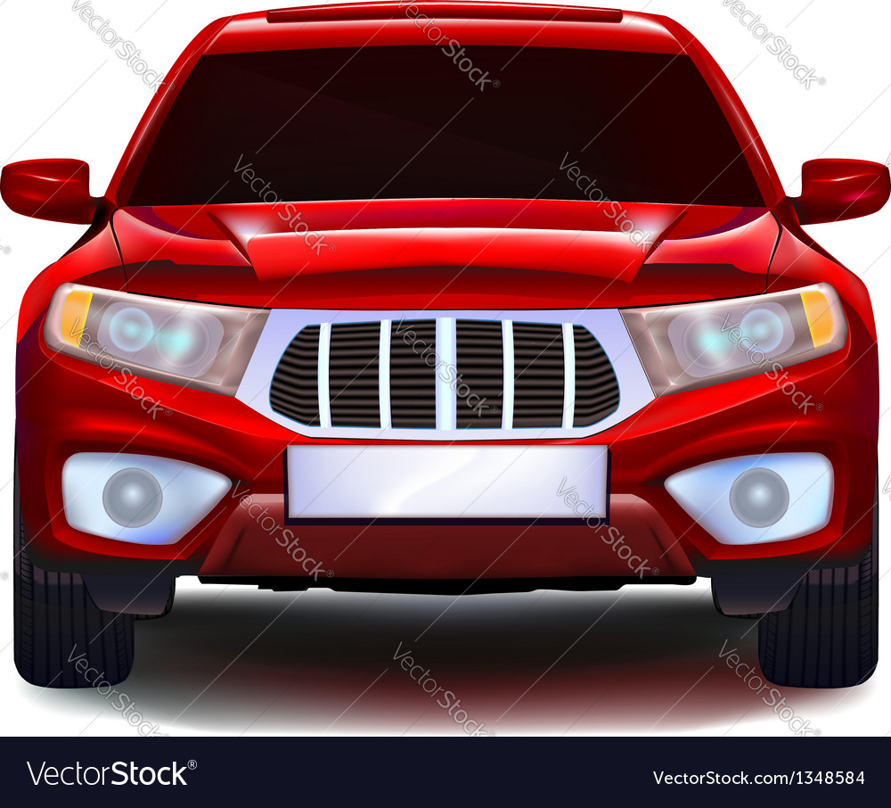 Red crossover car vector image