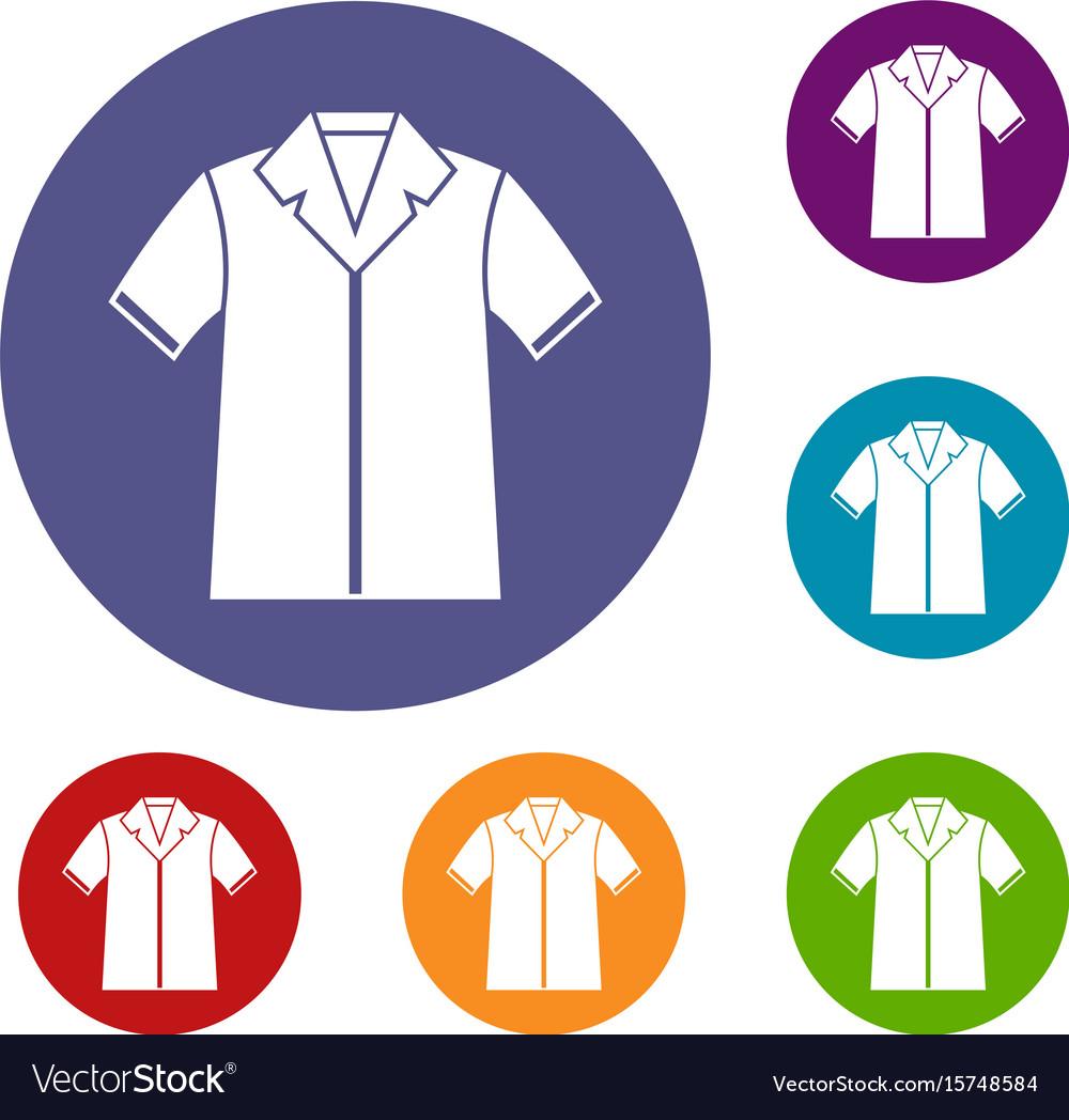 Shirt polo icons set