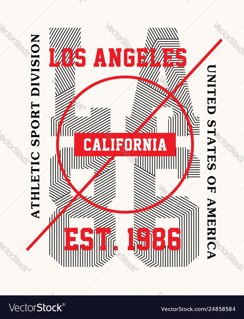 Typography design la 86 for t-shirt