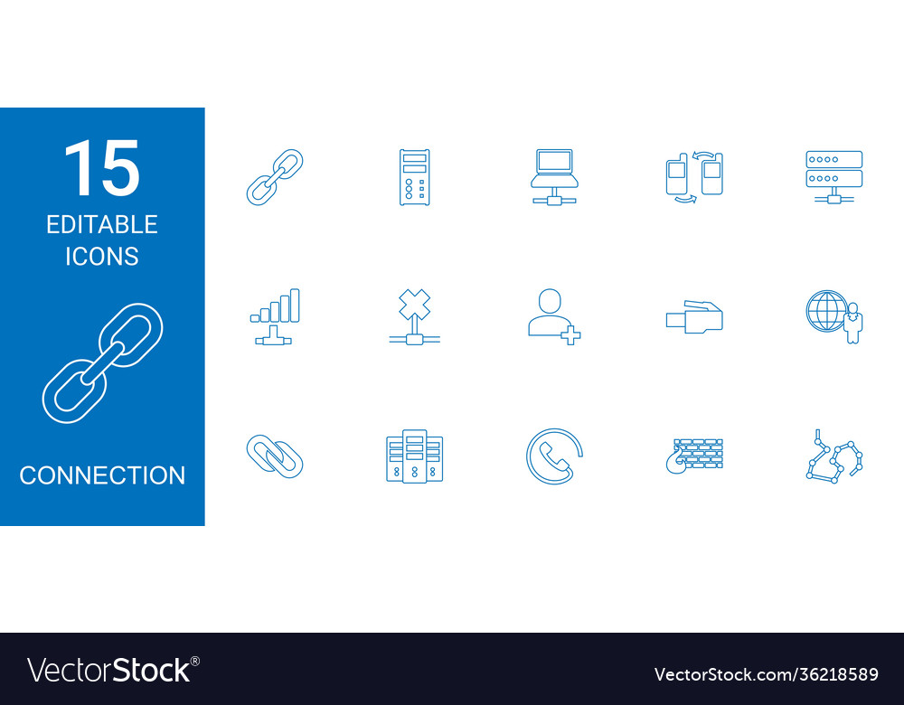 15 connection icons