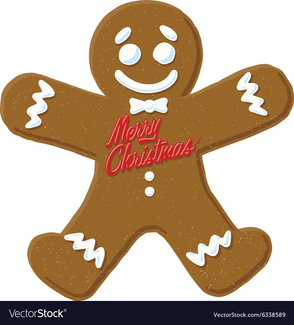 Christmas gingerbread man cartoon icon