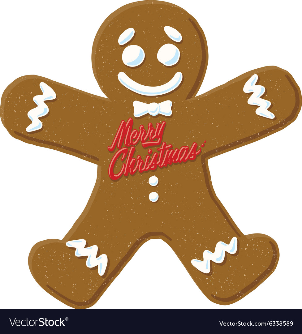 christmas gingerbread man vector image - Christmas Gingerbread Man