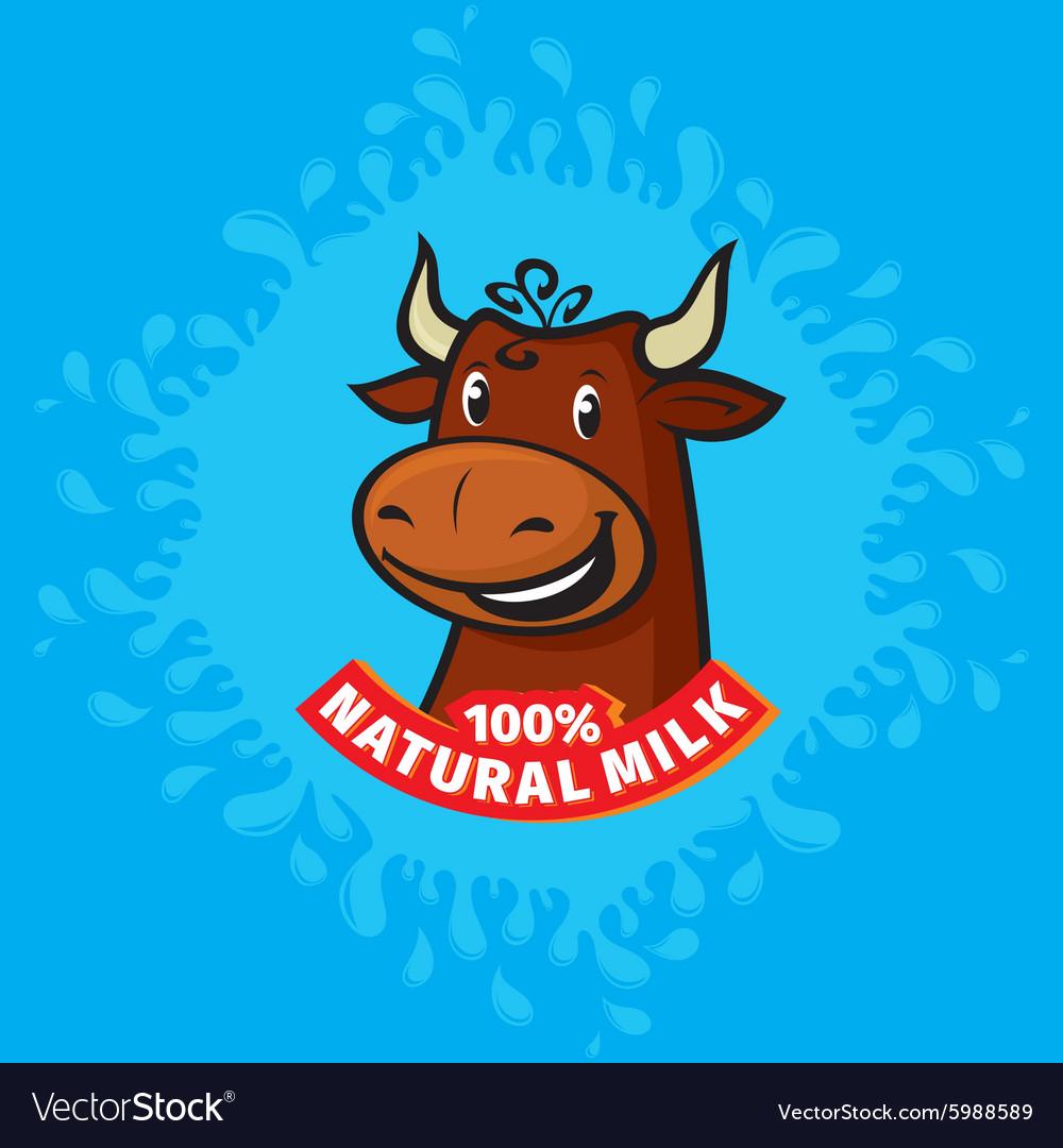 Fresh natural milk emblem