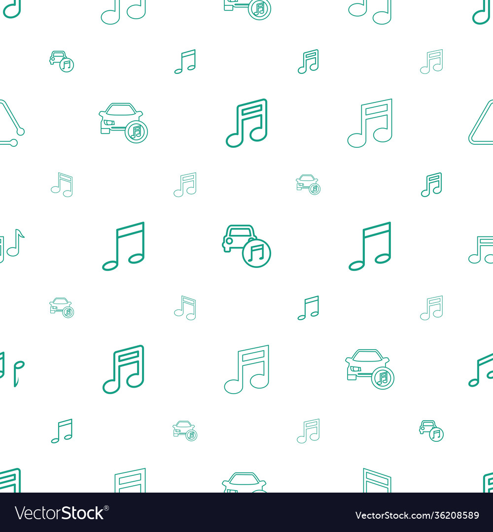 Notes icons pattern seamless white background