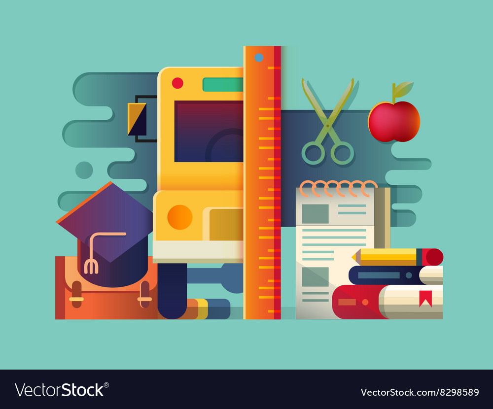 School concept item vector image
