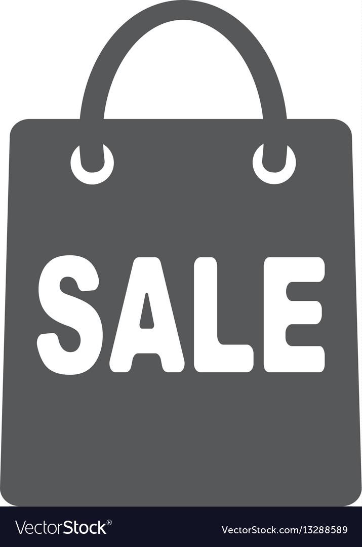 Shopping bag - icon vector image