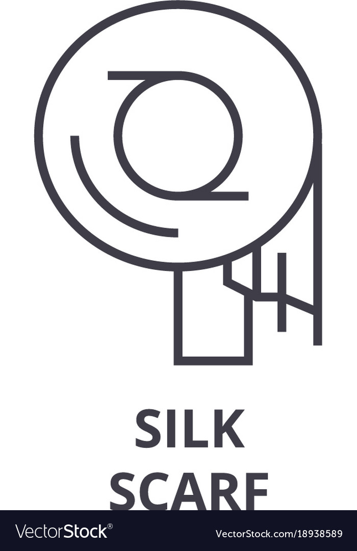 Silk scarf line icon outline sign linear symbol vector image