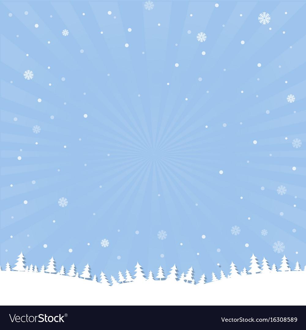 Winter cartoon poster