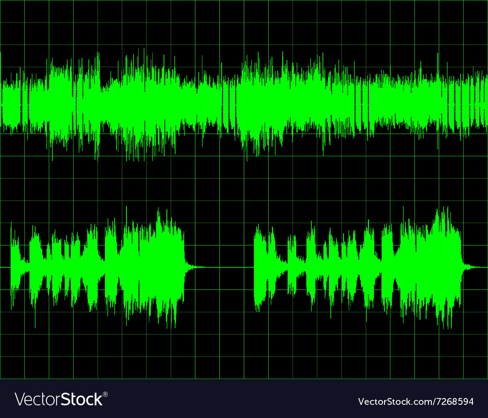 Abstract digital sound wave background