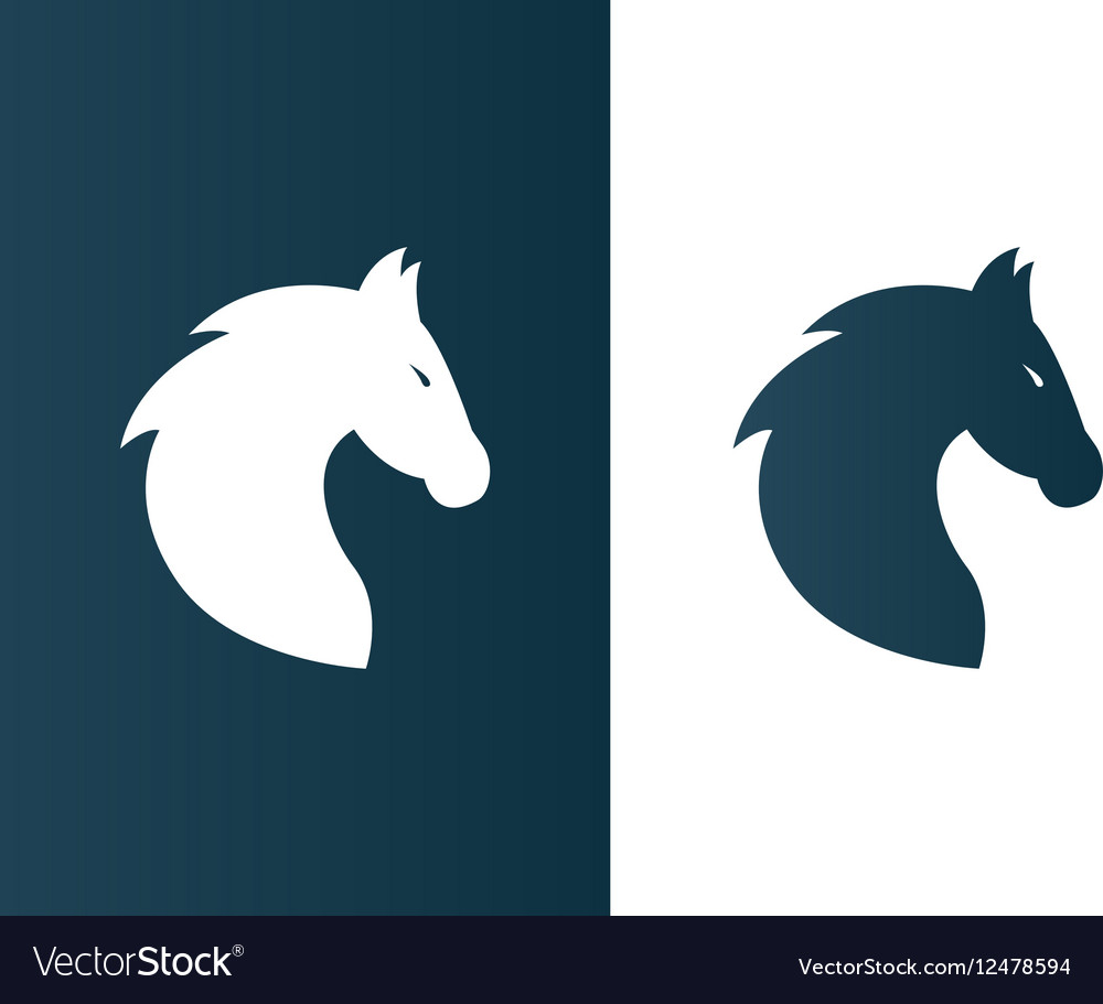 Business horse logo for company firm - isolated