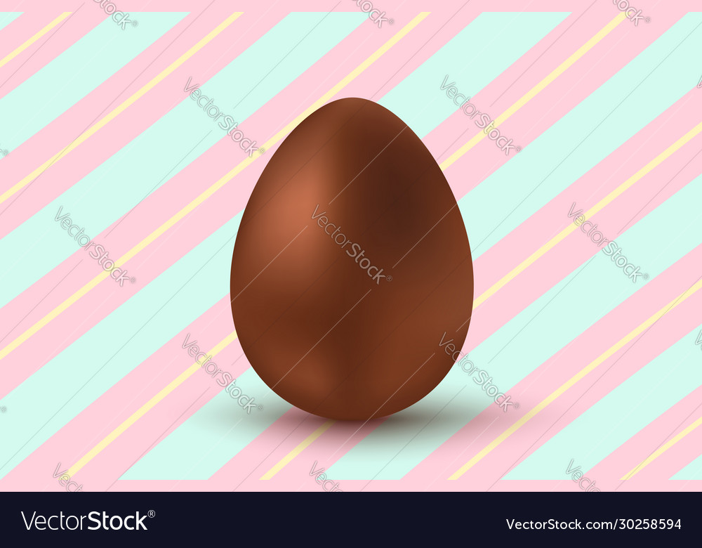 Chocolate egg for easter