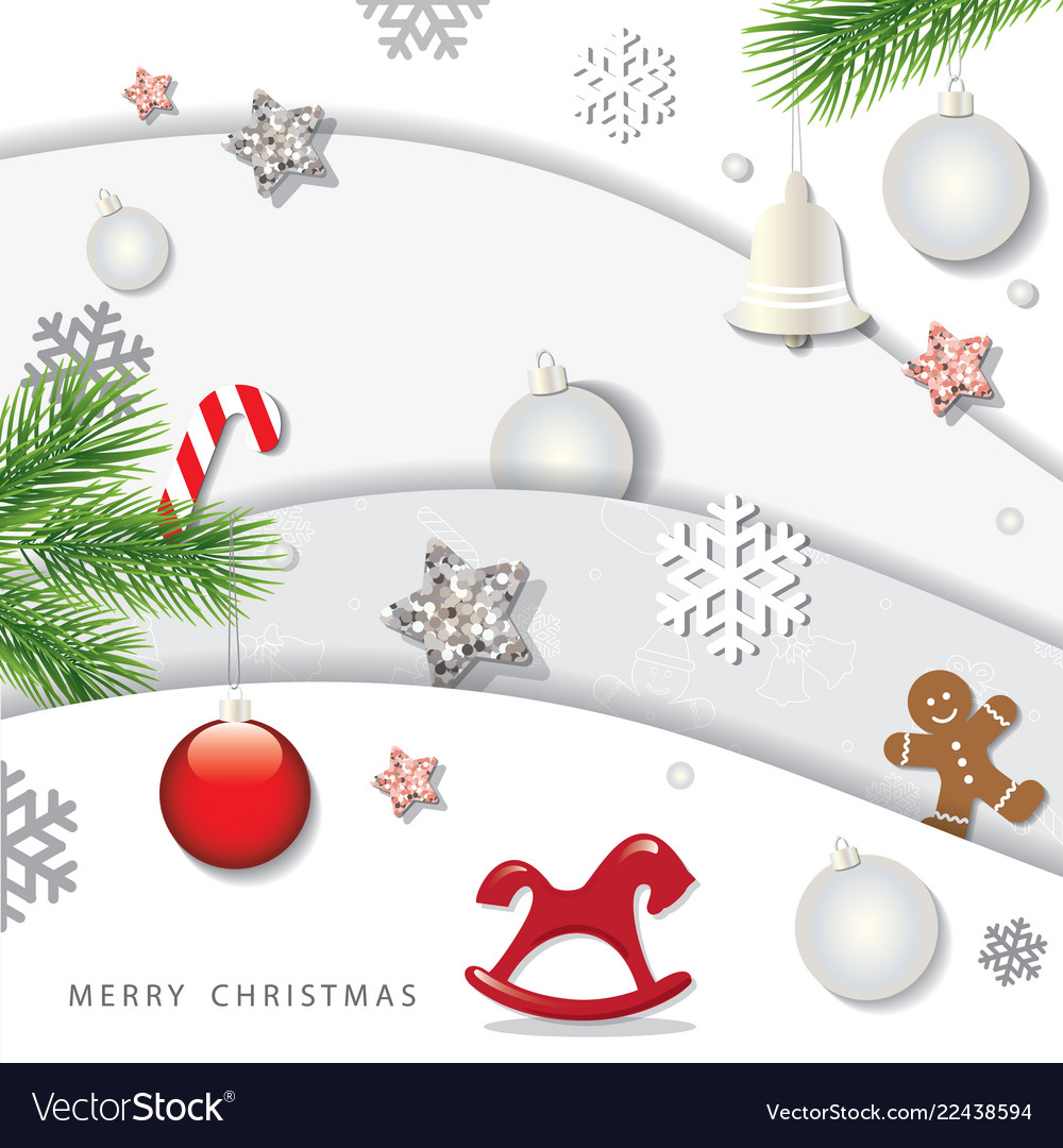 Christmas and happy new year winter background 3d