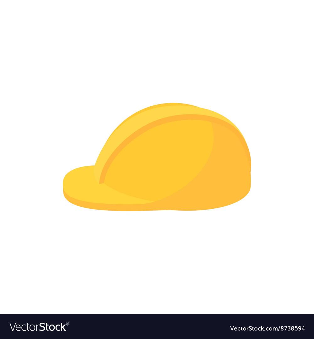 Construction helmet icon cartoon style