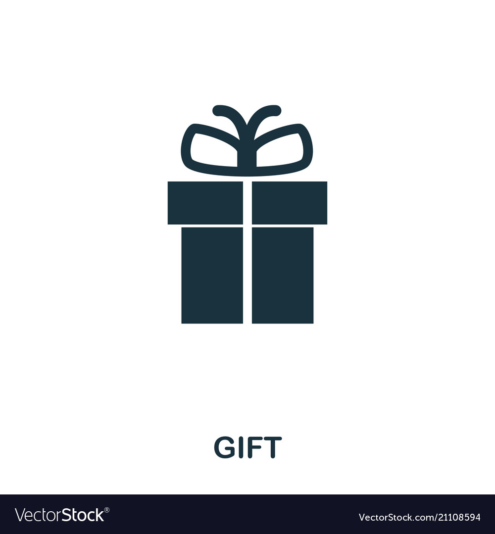 Gift Icon Mobile Apps Printing And More Usage Vector Image