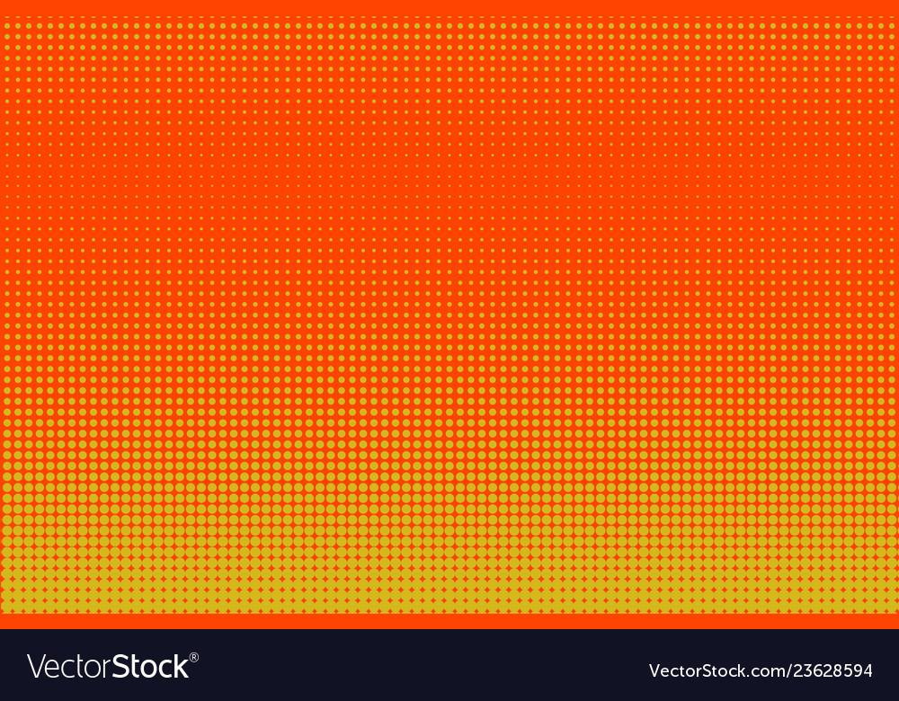 Halftone yellow and orange