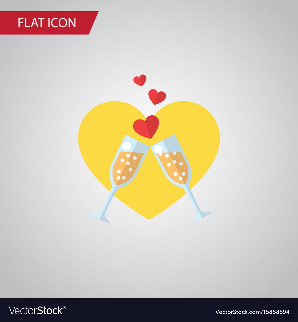 Isolated wineglasses flat icon celebration vector image