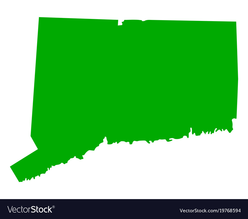 Map of connecticut Royalty Free Vector Image - VectorStock