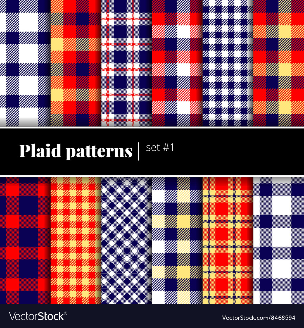 Set of plaid patterns See also other sets