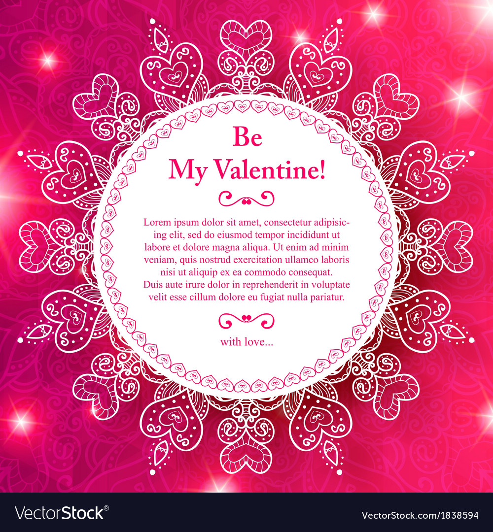 Valentines day lacy paper heart greeting card