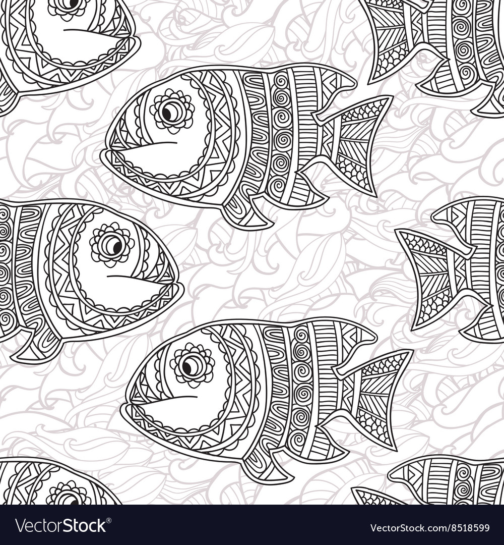 Coloring pages for adultSeamless abstract hand