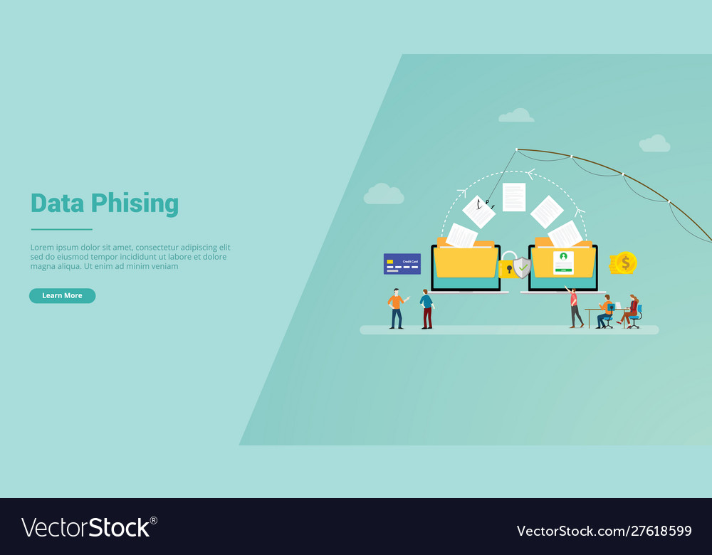 Data phising for website template or landing