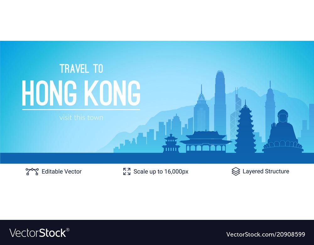Hong kong famous city scape