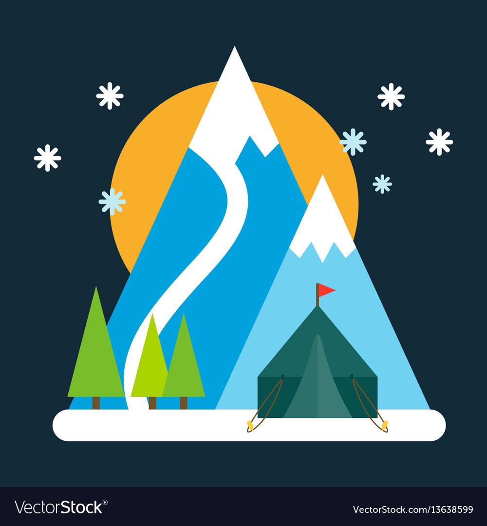 Mountain mature silhouette