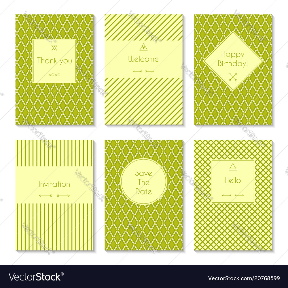 Set of card templates