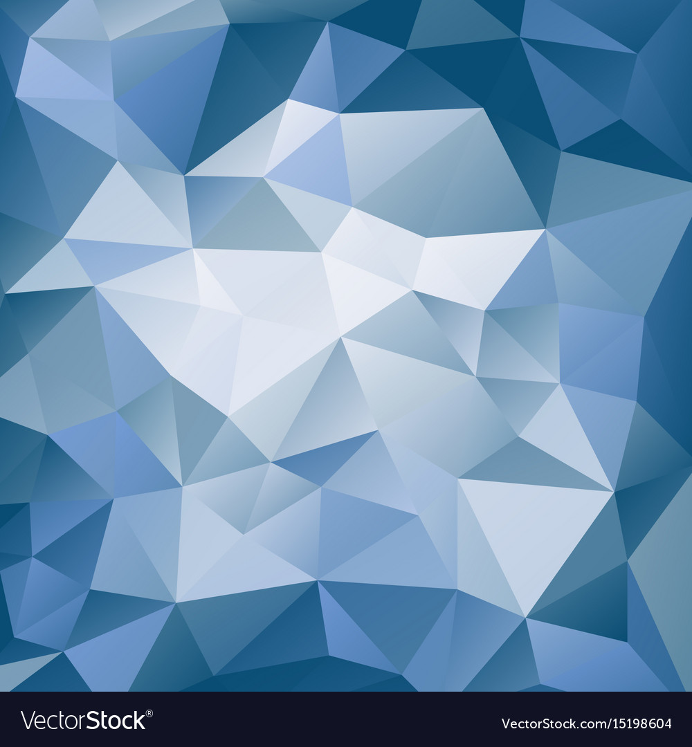 Blue and white polygonal background vector image