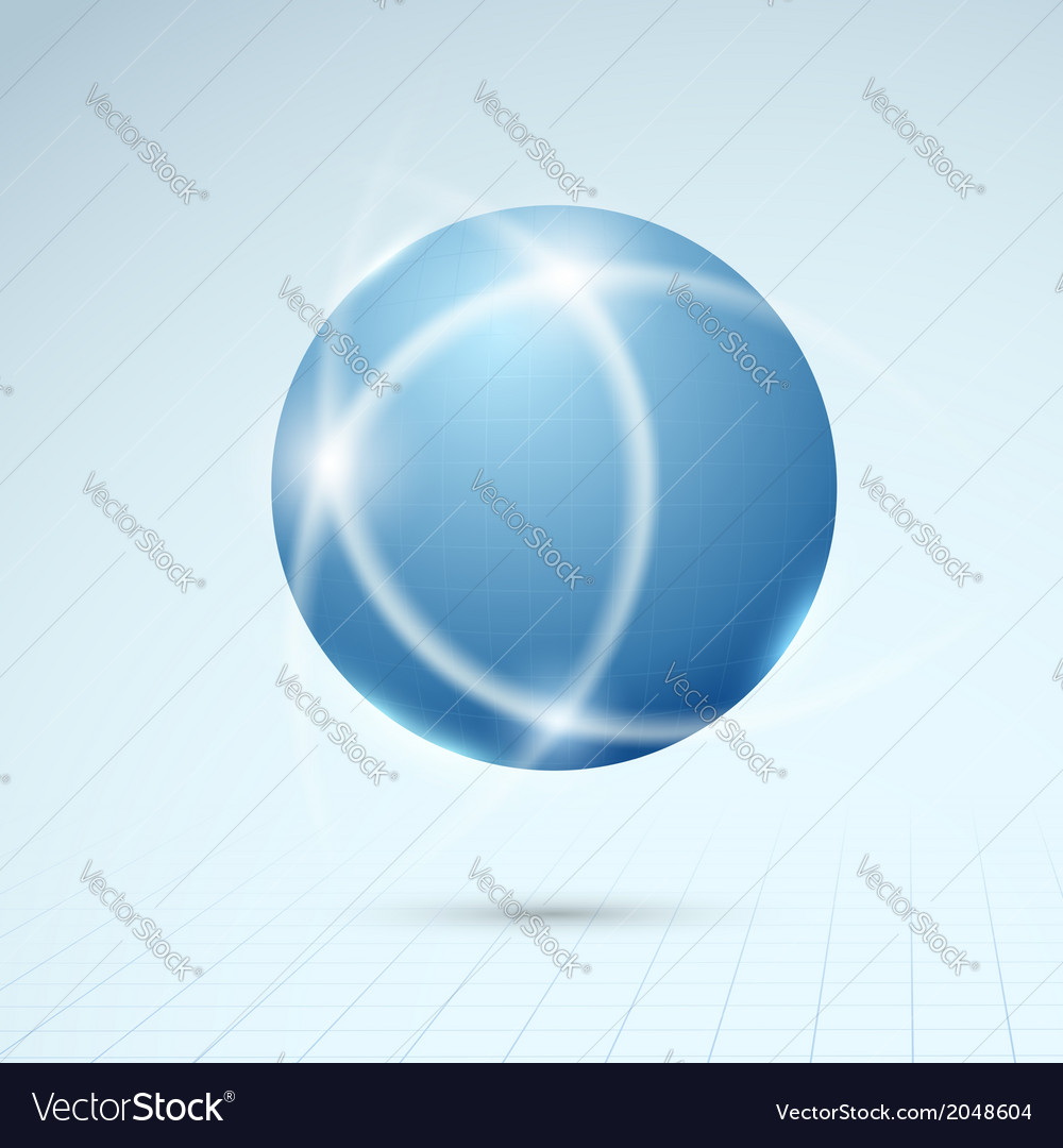 Blue globe - connection concept