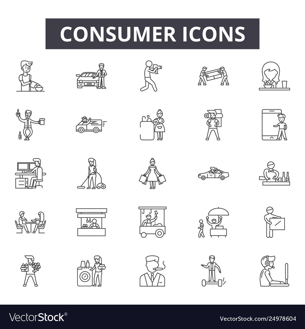 Consumer line icons signs set outline