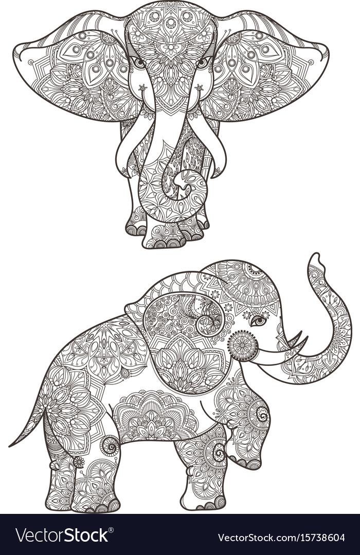 Elephant with mandalas