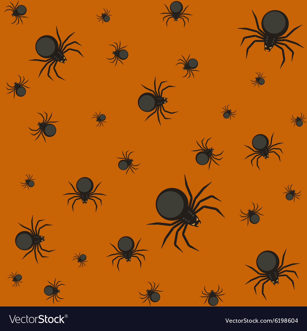 Halloween pattern with spiders
