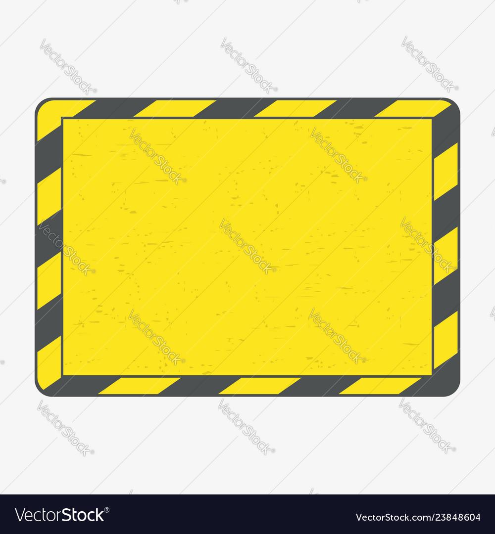 Hazard frame