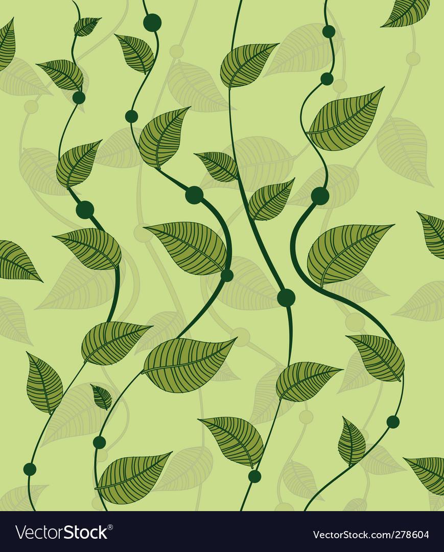 Pattern of vines green peas vector image