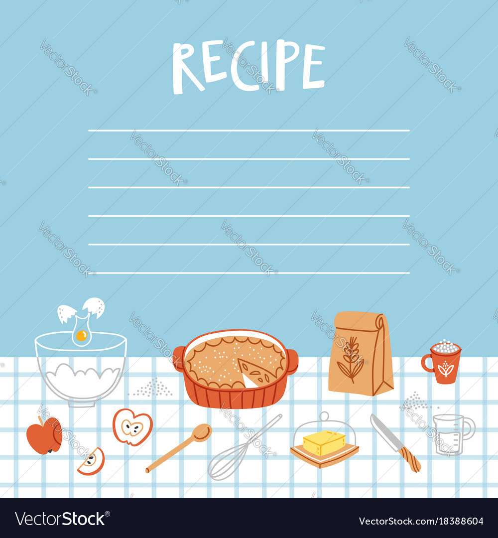 Recipe template with cooking background royalty free vector recipe template with cooking background vector image forumfinder Gallery