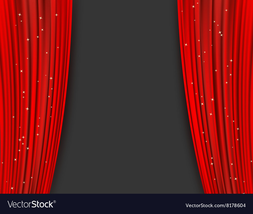 red theater curtains royalty free vector image