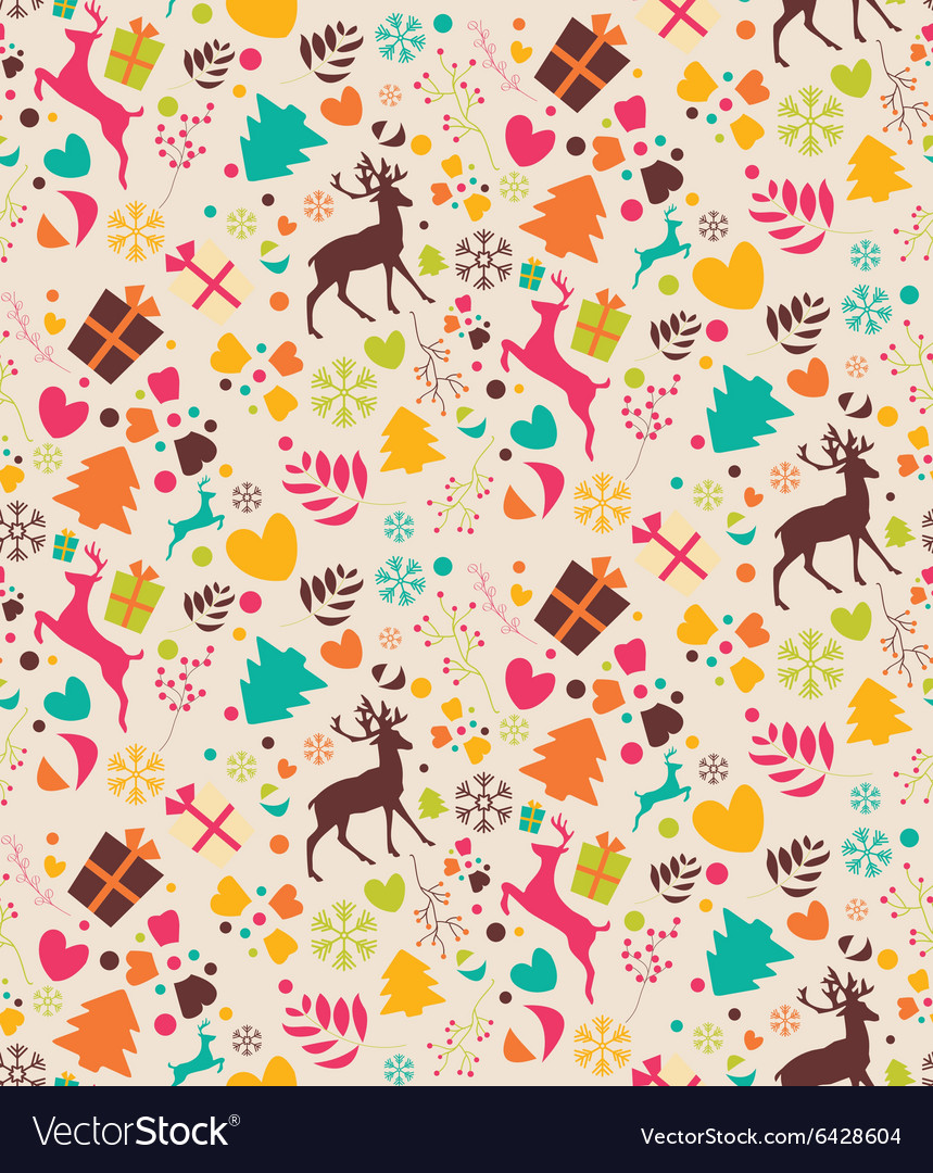 Seamless patterns with Christmas trees