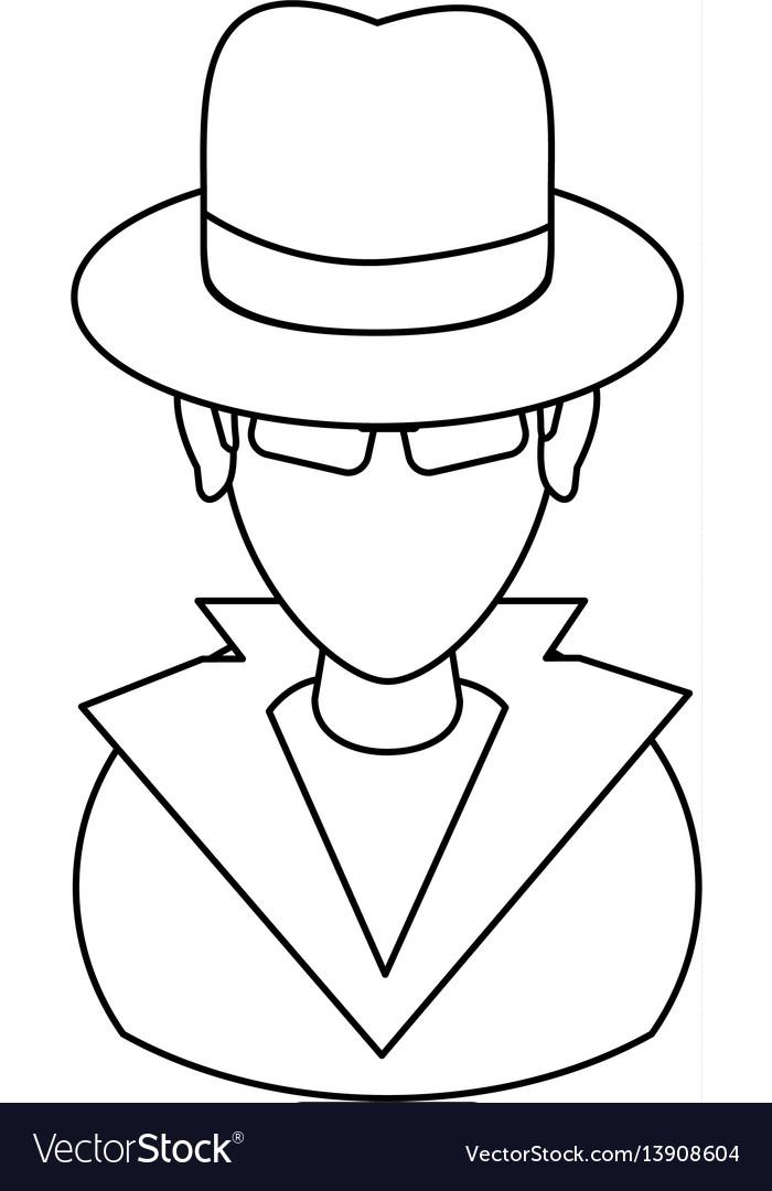 Suspicious looking man icon image